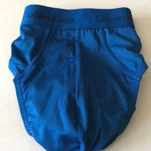 Calvin Klein- L Rich Blue Poly Blend NWOT